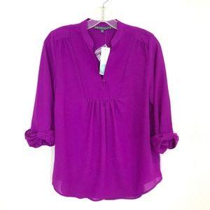 Brixon Ivy Stitch Fix blouse popover top 3/4 sleve
